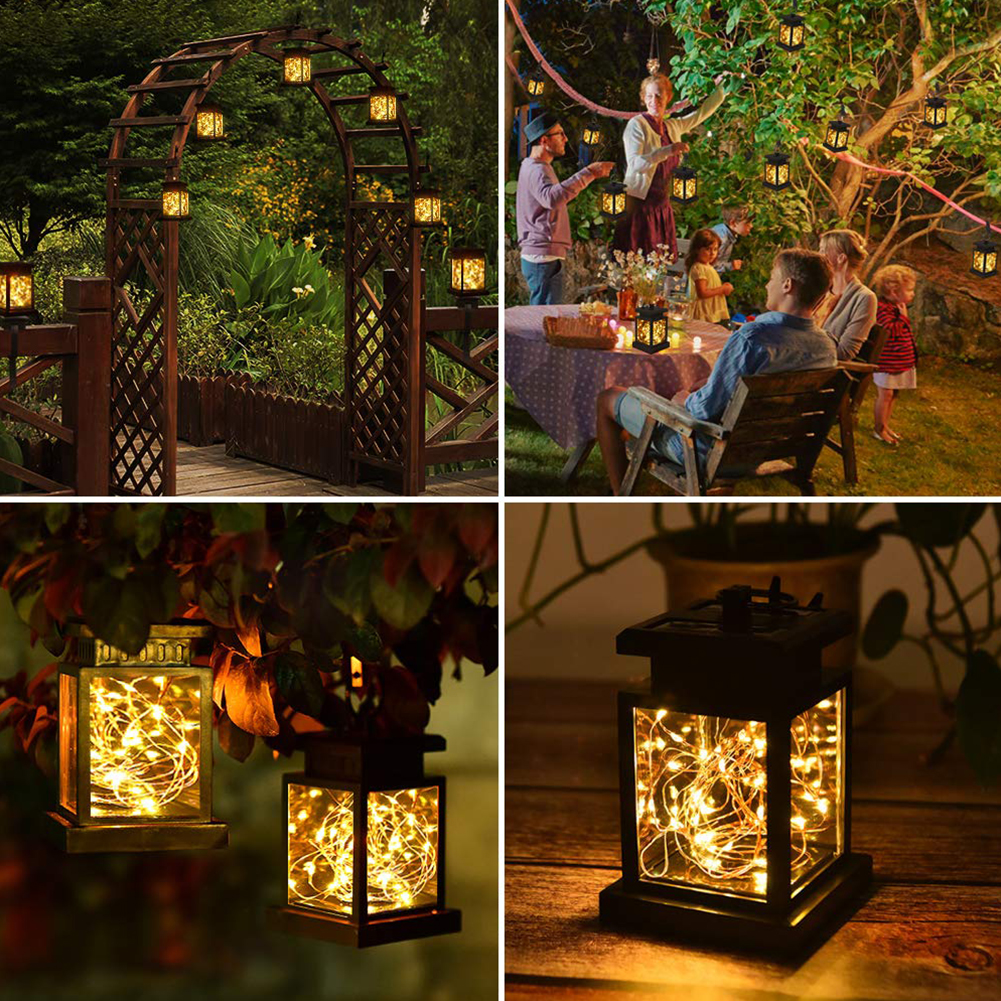 Path Garden With Clip Lawn Hanging Night Waterproof Automatic Decoration Rechargeable Star Light Led Solar Lantern Outdoor