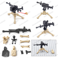 Legoinglys NSV Heavy Machine Gun Military Building Blocks Figures Weapons Assemble Diy WW2 Soldier Moc Child Christmas Gift Toys