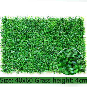 Image 5 - Tapete de plantas verdes artificiais 40x60cm, tapete para casa, jardim, parede, paisagem, plástico verde, gramado, porta, backdrop imagem grama