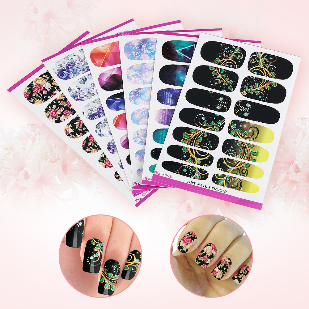 Manufacturers Currently Available Supply Water Transfer Nail Sticker Manicure Stickers Stick Completely Nail Ornament Watermarki