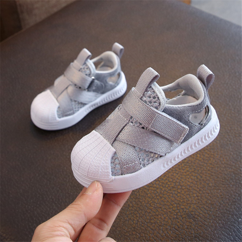 2020 Summer Baby Shoes Breathable Mesh Casual Infant Toddler Sandals Non-Slip Soft Kid Anti-collision Shoes