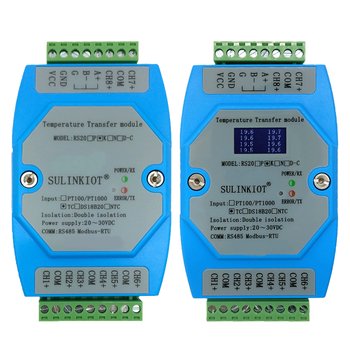 RS20K thermocouple 8-channel temperature transmitter MODBUS-RTU protocol RS485 communication with isolation