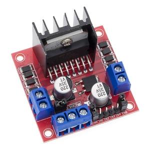 Image 3 - Free Shipping 50pcs/lot L298N motor driver board module L298 for   stepper motor smart car robot