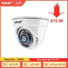Smar新hd 1080 720p屋内ドームipカメラHI3518EV200 15fps監視ネットワークカメラモーション検出onvifナノir led