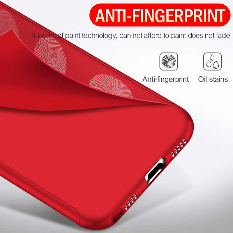 Mới 360 Full Cover Ốp Lưng Điện Thoại Tiểu Mi Đỏ MI Note 8 7 6 6A 5 5A 4A 4X pro Plus Thủ Đi K20 Dành Cho Mi A2 A3 Lite Có Kính