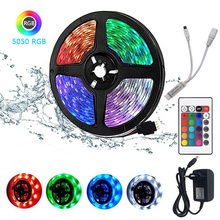 Bluetooth WIFI remote LED Strips RGB 5050 SMD 2835 Waterproof Flexible Lamp Tape Ribbon Diode DC12V 5M 10M  Christmas decoration