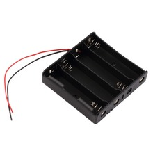 цена на IN STOCK! Good Quality Plastic Battery Storage Case Box Holder For 4 x 18650 3.7V With Wire Leads Eletronic Digital Black