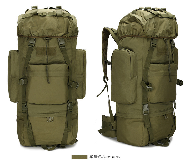 Outdoor Multi-functional Waterproof Mountaineering Bag 65L Large-Volume Tactical Camouflage Backpack