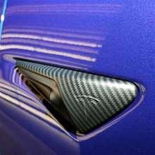 2 adet buzlanma mat kaplama karbon fiber desen yan kamera koruyucu kapak dekorasyon kapağı aksesuarları Tesla modeli 3 S X