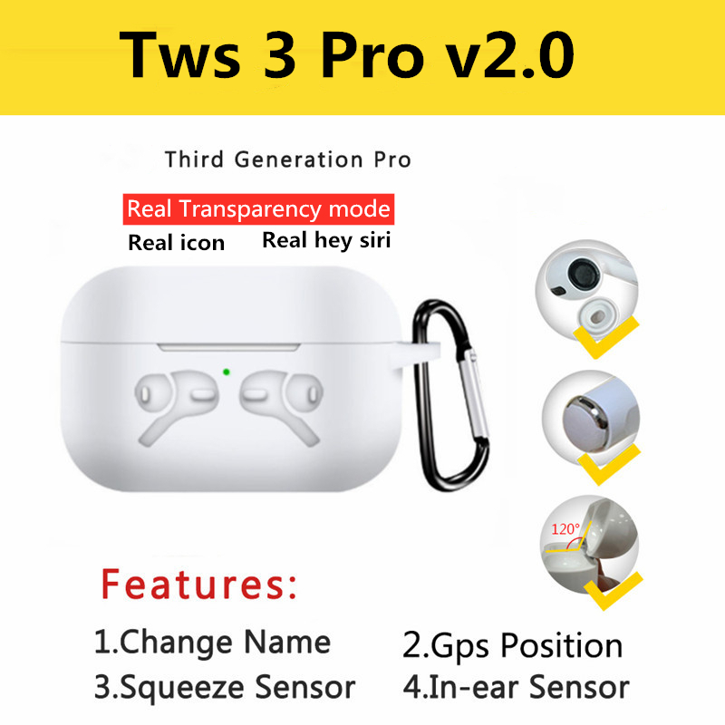 New Superpods Pro Bluetooth Earphones 5.0 Smart Sensor Wireless Charging Noise Reduction Microphone High Quality