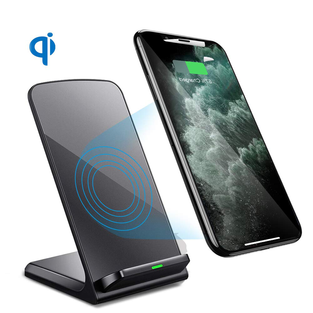 Image 2 - SooPii Wireless Charger 2 Pack,Qi Certified for iPhone 11/11 Pro/XS/X/8/8 Plus, 10W Fast Charging Stand for Galaxy S10 S9 S8Mobile Phone Chargers   -