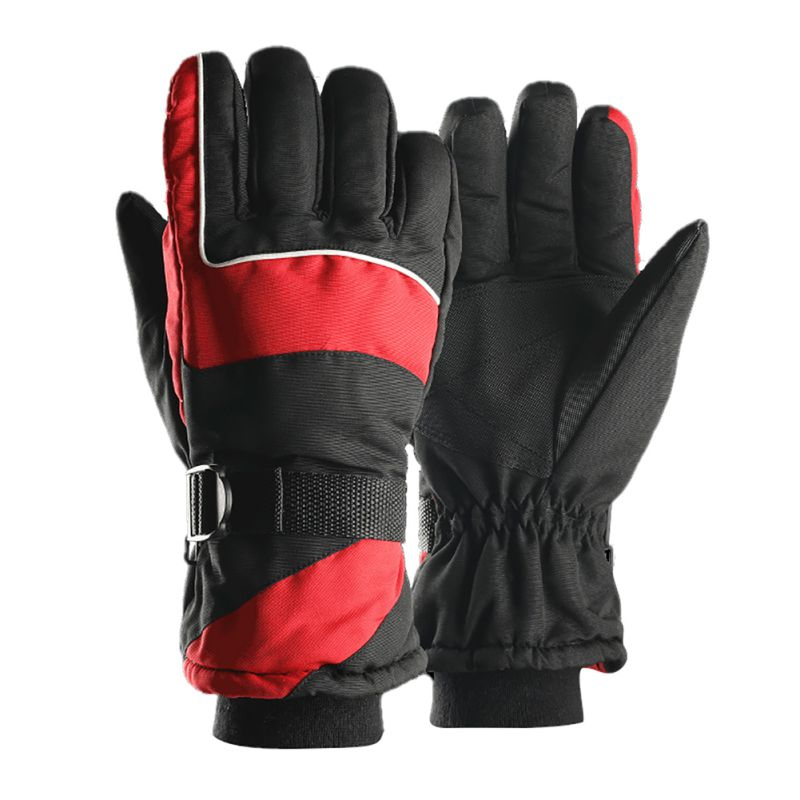 Winter Thick Waterproof Cold Resistant Outdoor Sports Thermal Warm Riding Skiing Gloves For Men Women
