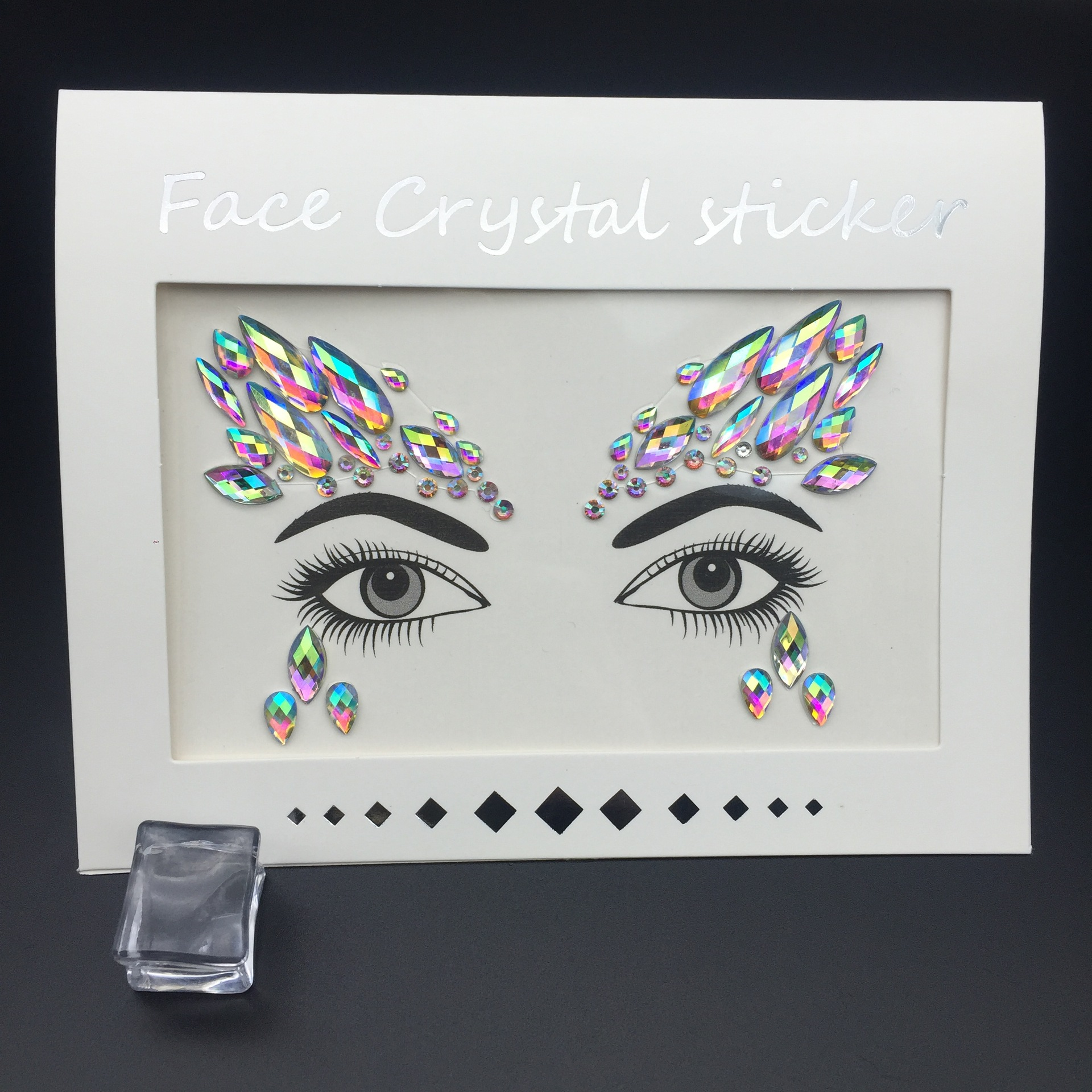 2020 Women Tattoo Diamond Makeup Eyeliner Eyeshadow Face Sticker Jewel Eyes Makeup Crystal Eyes Sticker 2019 Fashion