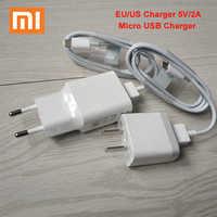XIAOMI-cargador USB de 5V y 2A para móvil, adaptador de corriente con enchufe europeo y estadounidense, Cable Micro USB para Mi 9, 8, 6, SE, 5X, A1, mix, Redmi 4X, 4A, 5A, 5 Plus, Note 4X, 5a