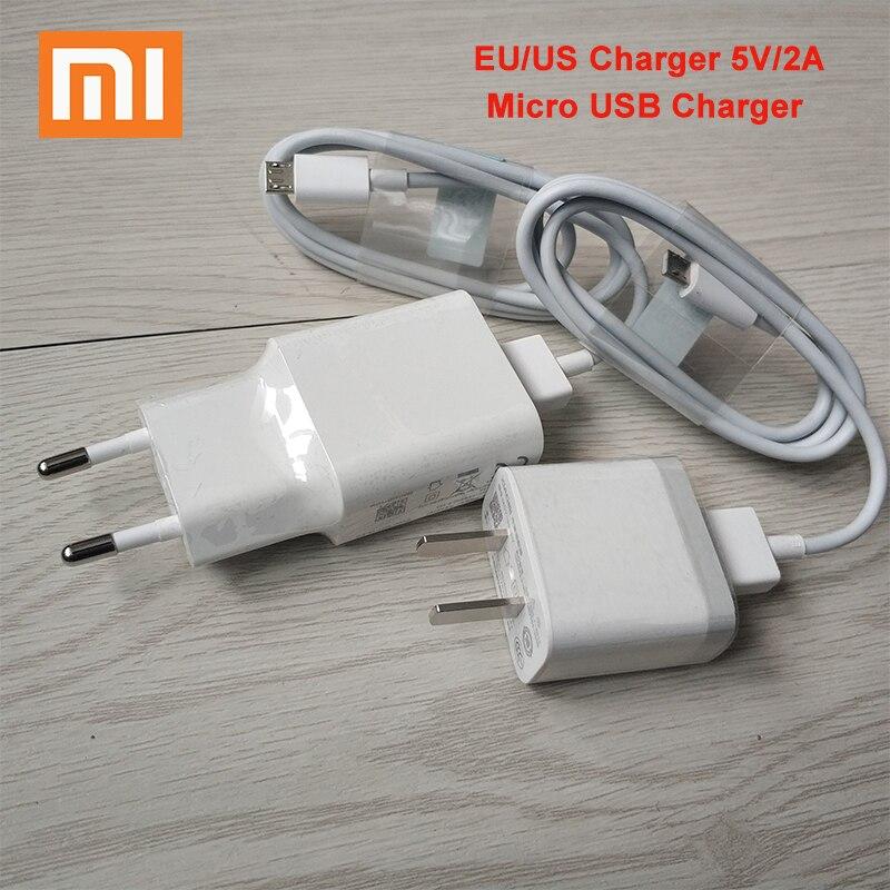 XIAOMI USB Ladegerät 5V 2A EU/Us-stecker USB Power Adapter Micro USB Kabel für Mi 9 8 6 SE 5X A1 mix Redmi 4X 4A 5A 5 Plus Hinweis 4X 5a