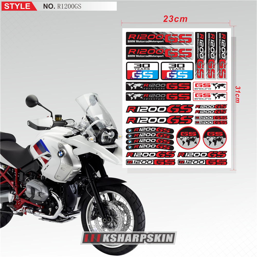Decals Stickers Kit for SV650 Tank Upper Fairing Side Tail Tank Emblems Graphics