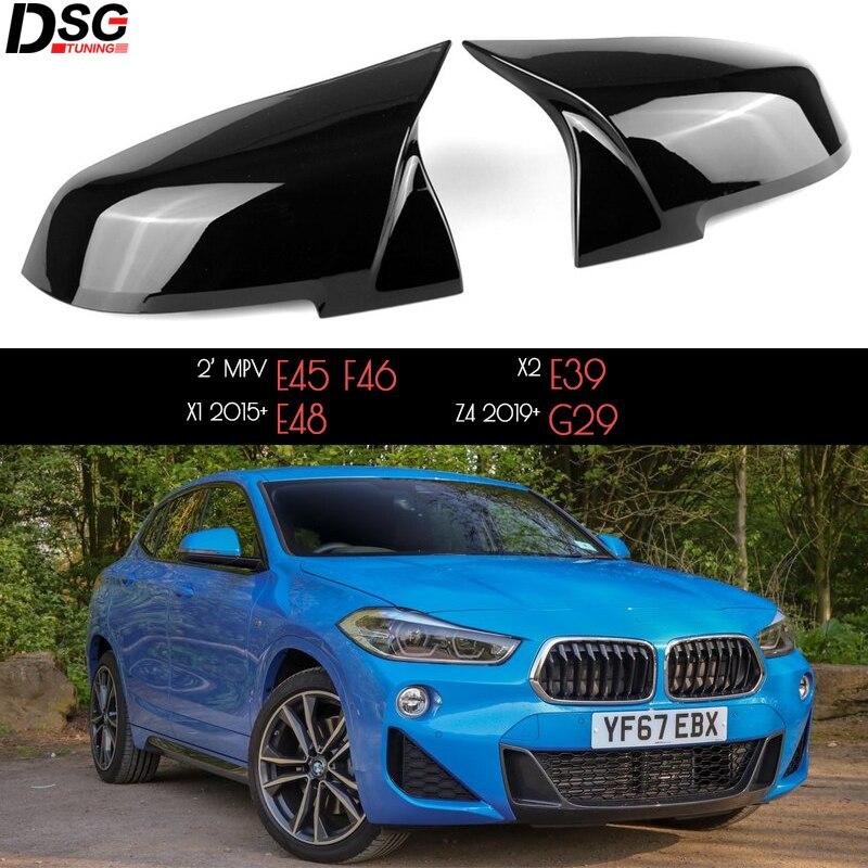 Черные чехлы для зеркал заднего вида Oxhorn из АБС-пластика для BMW New X1 X2 Z4 F48 F39 G29 (также подходят для Toyota 2019 + Supra)