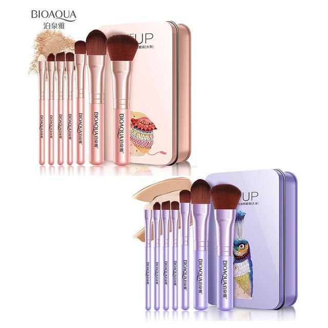 BIOAQUA 7Pcs Makeup Brushes Set Eye Lip Face Foundation Make Up Brush Kit Soft Fiber Hair Tools OR88 4