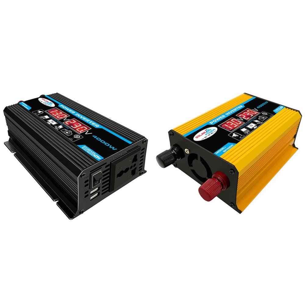 PEAK 6000W รถอินเวอร์เตอร์ 12V To 220V Sine WAVE ดัดแปลงอินเวอร์เตอร์แรงดันไฟฟ้า Converter + จอแสดงผล LCD