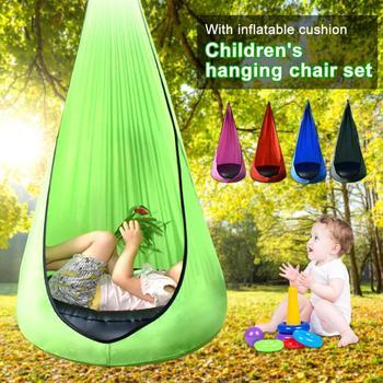 Kid Hammock Garden Furniture Pod Swings Chair Indoor Outdoor Hanging Seat Child Swing Seat Patio Portable 200Kg