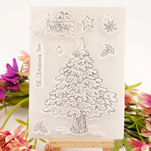 Clear Stamps for DIY Scrapbooking Card Christmas Tree Transparent Making Album paper Craft Decorative New 2019