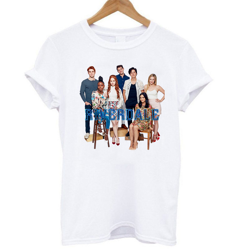 2020 Summer Casual Tops T-Shirt For Women Lady Girls Riverdale Friends Archie Betty Veronica Jughead Hermione Short Sleeve Shirt