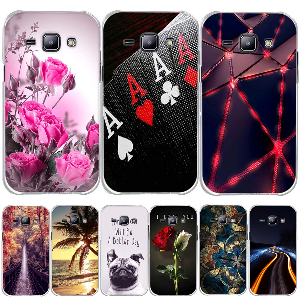 Colorful Printing Soft Silicone TPU Case Cover for Samsung Galaxy J1 J100 <font><b>J100H</b></font> J100F Phone Case Cover Skin Capa Funda Bag Shell image