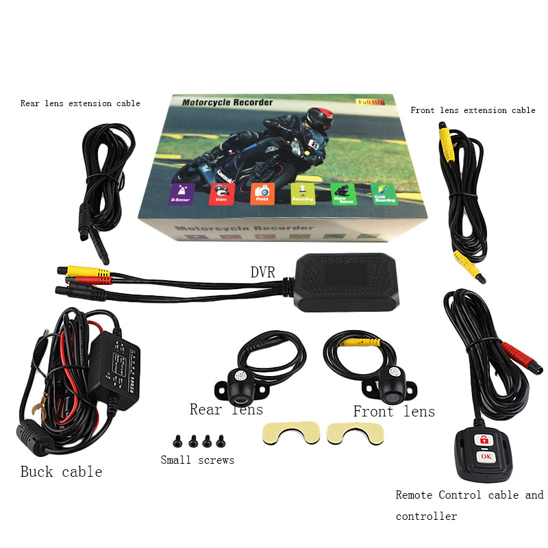 HD 1080P moto sport double caméra DVR moteur Dash Cam avec spécial double piste avant arrière enregistreur moto électronique