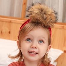 Pompom-Hat Headwear Beanies Hair-Accessories Fur-Caps Skullies Warm Girls Infant Kids