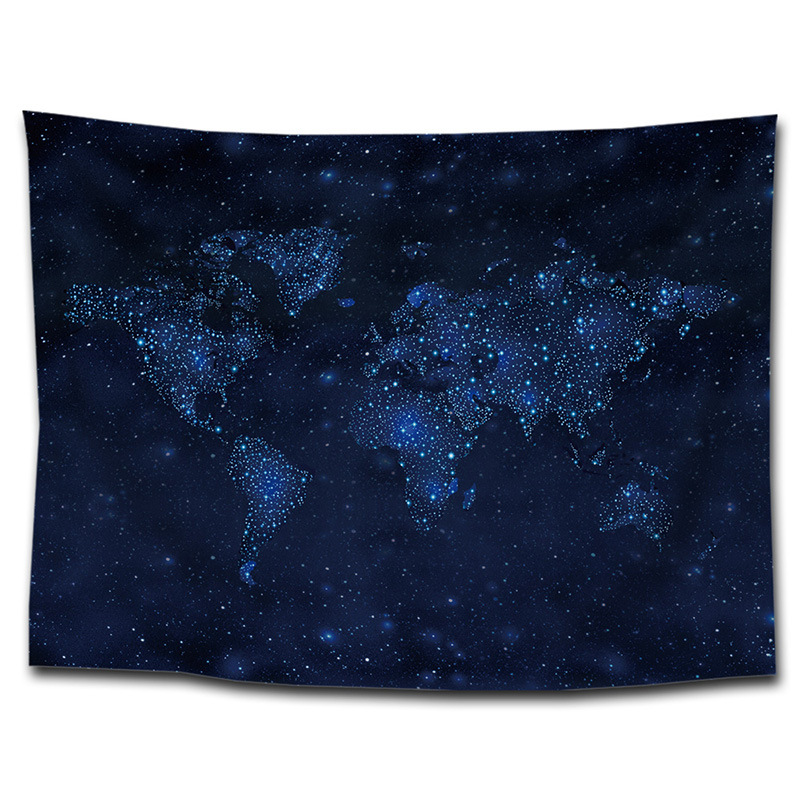 150*200cm World Map Printing Tapestry, Blanket Wall Blanket, Cloth, Hair Towel, Home Hanging Painting, Decorating Table Cloth Cb