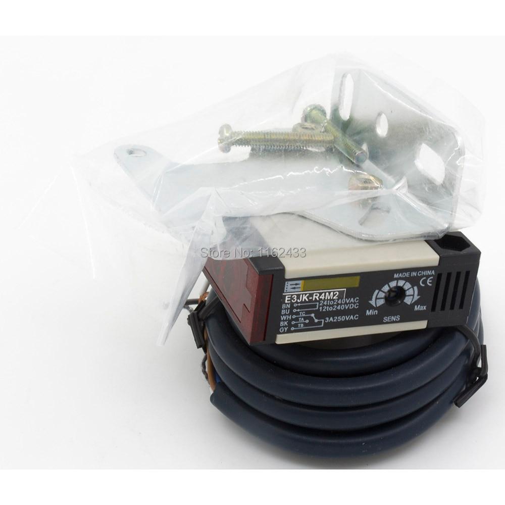 interruptor c/élula fotoel/éctrica Interruptor del sensor fotoel/éctrico de reflexi/ón especular E3JK-R4M1 de AC 90-250V 3A