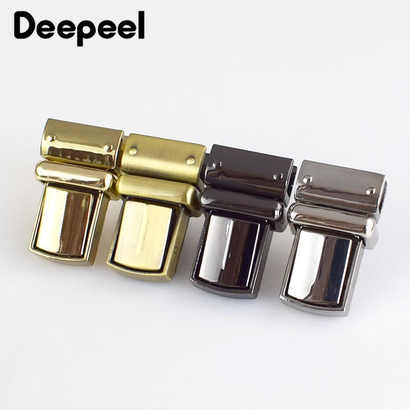 2Pcs Metal Lock Snap Locks Closure Use for Box Suitcase DIY Repair Replacements
