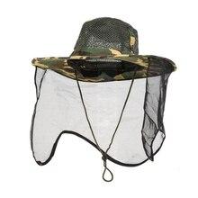 Женская Мужская шляпа с широкими полями, дышащая сетка, унисекс, для спорта на открытом воздухе, кемпинга, пешего туризма, Анти Москитная УФ-Защита лица и шеи, Кепка