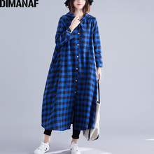 DIMANAF Women Plus Size Jackets Coats Basic Outerwear Autumn Casual Lady Long Sleeve Female Loose Cotton Hooded Plaid Thin 2019