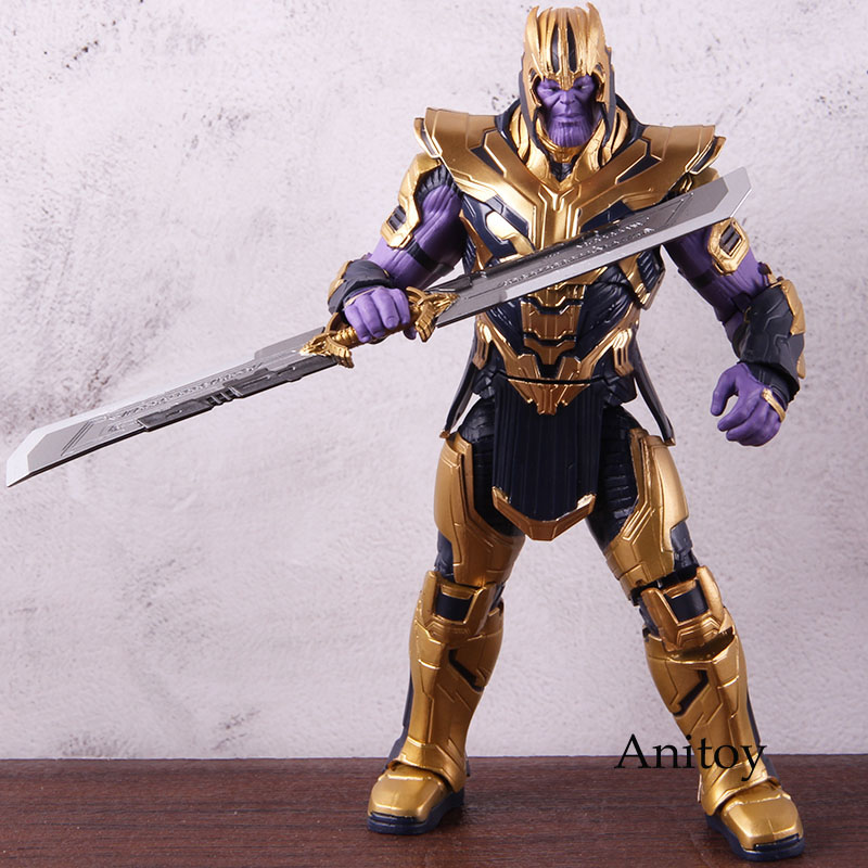 Marvel Avengers Endgame Thanos Armor Ver. PVC Thanos Action Figure Collectible Model Toy 1