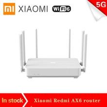 Novo xiaomi redmi ax6 roteador sem fio 2976 mbps 5g qualcomm 6-core cpu 512mb wifi6 malha repetidor extensor de rede amplificador pppoe
