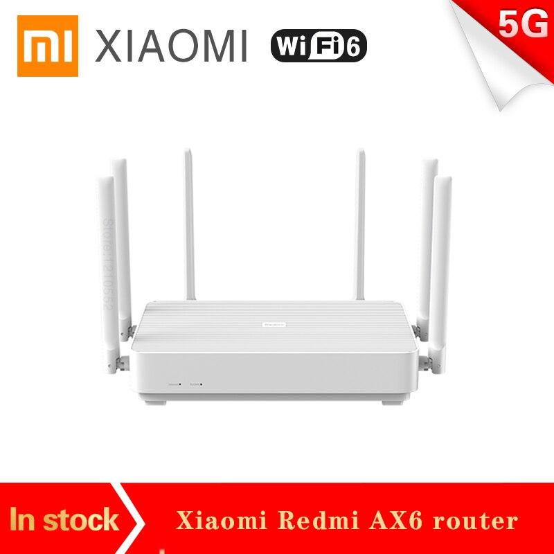 Nouveau Xiaomi Redmi AX6 routeur sans fil 2976 Mbps 5G Qualcomm 6 cœurs CPU 512 mo WiFi6 maille répéteur amplificateur dextension réseau PPPOE