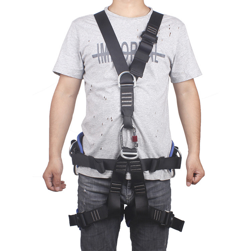 Rock Climbing Harnesses Full Body Safety Belt Anti Fall Gear High Altitude Protection Mountaineering Equipment