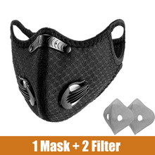 Sport-Face-Mask Cycling-Mask Training Anti-Pollution with ACTIVATED-CARBON-FILTER PM