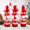 Christmas Wine Bottle Cover Merry Christmas Decoration For Home Noel Christmas Ornaments Xams Gifts New Year 2021 Cristmas Decor