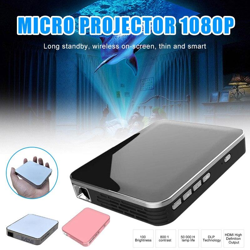 Mini projecteur vidéo Portable pour Home cinéma privé poche HD sans fil écran de téléphone LHB99