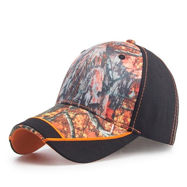 Casquette Camouflage pour hommes   Casquette de Baseball de marque pour lextérieur, Orange feuille dérable, Camouflage de Jungle pour homme, chapeau de papa de pêche en os