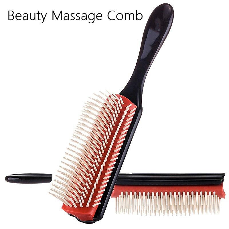 1 шт., мягкая щетка для укладки волос, пшеничная солома, Detangle, салонная расческа, Парикмахерская, прямые кудрявые волосы, расческа для женщин