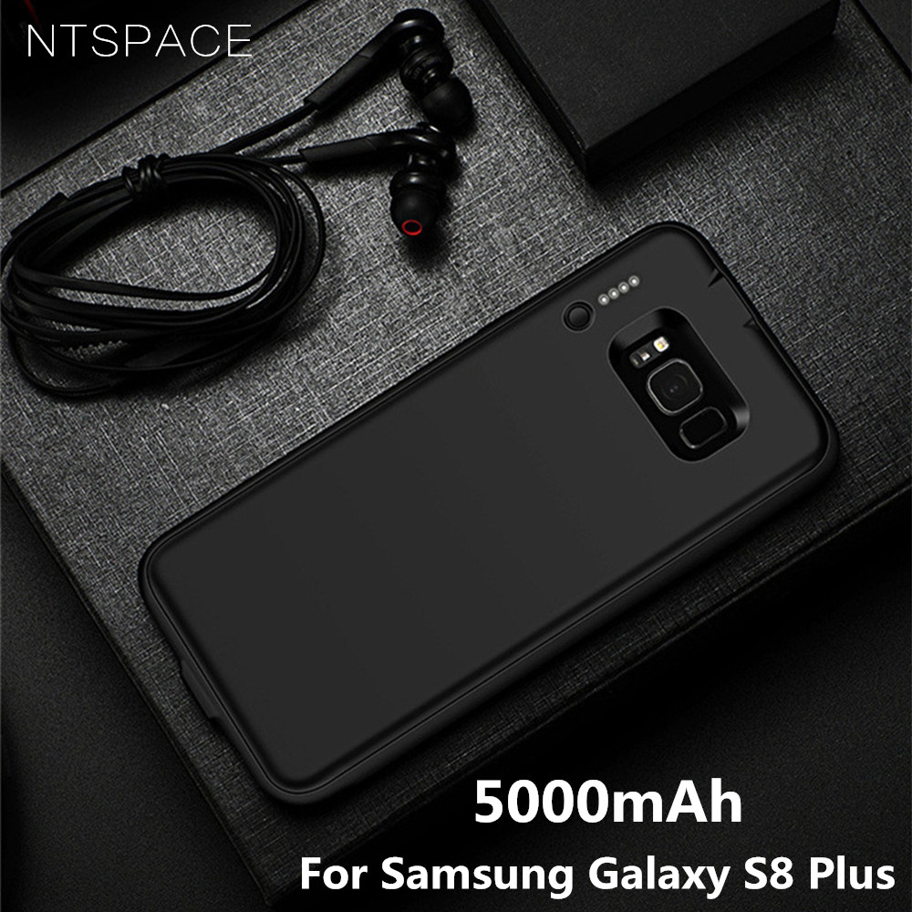 NTSPACE 5000mAh For Samsung Galaxy S8 Plus Battery Case <font><b>4000mAh</b></font> Ultra Slim Backup <font><b>Power</b></font> <font><b>Bank</b></font> Case for Samsung S8 Charger Cases image