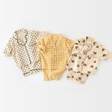 Pajama-Set Baby-Girl Nightwear Suit-Clothes Sleeper-Wear Short-Sleeve Summer Pants Shirt