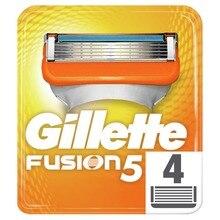 Removable Razor Blades for Men Gillette Fusion Blade for Shaving 4 Replaceable Cassettes Shaving Fusion Shaving Cartridge Fusion