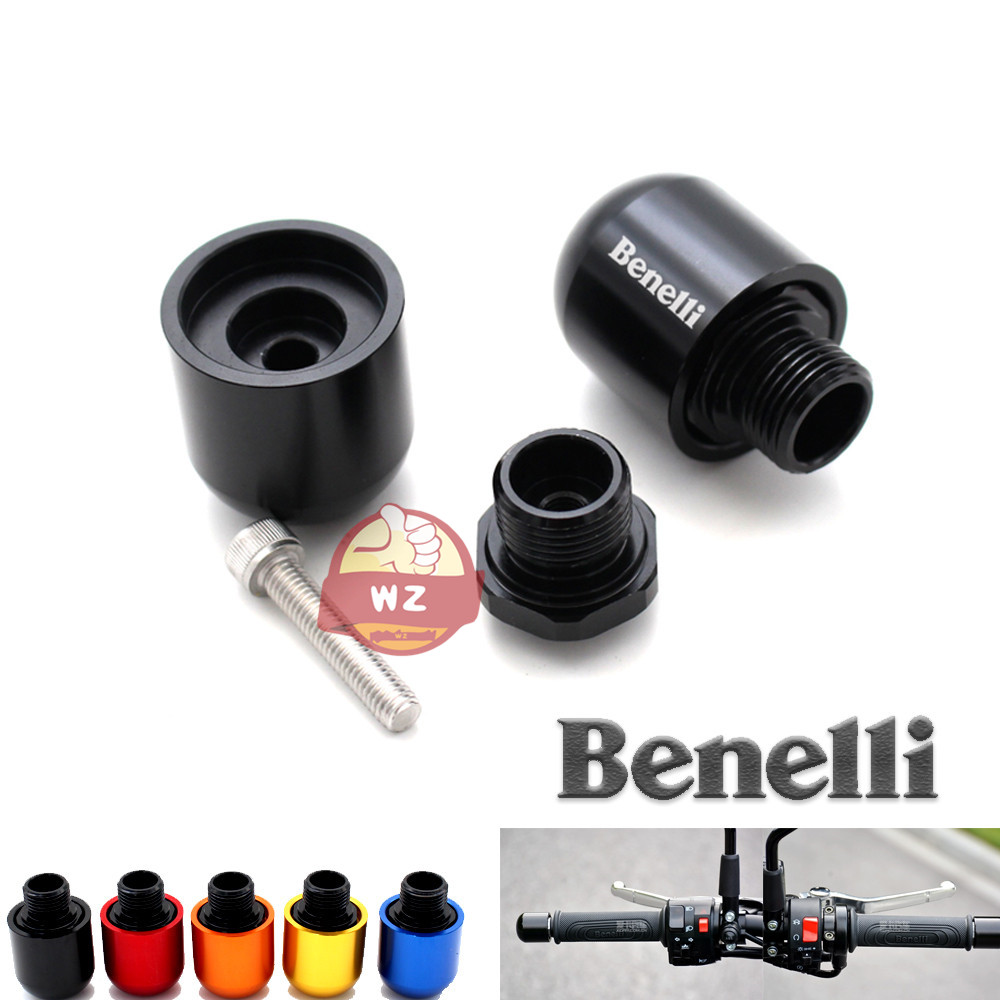 Motorcycle accessories CNC handlebar grips Bar ends sliding cover laser logo for Benelli TNT BN <font><b>600</b></font> <font><b>300</b></font> 250 250 Leoncino 500 image