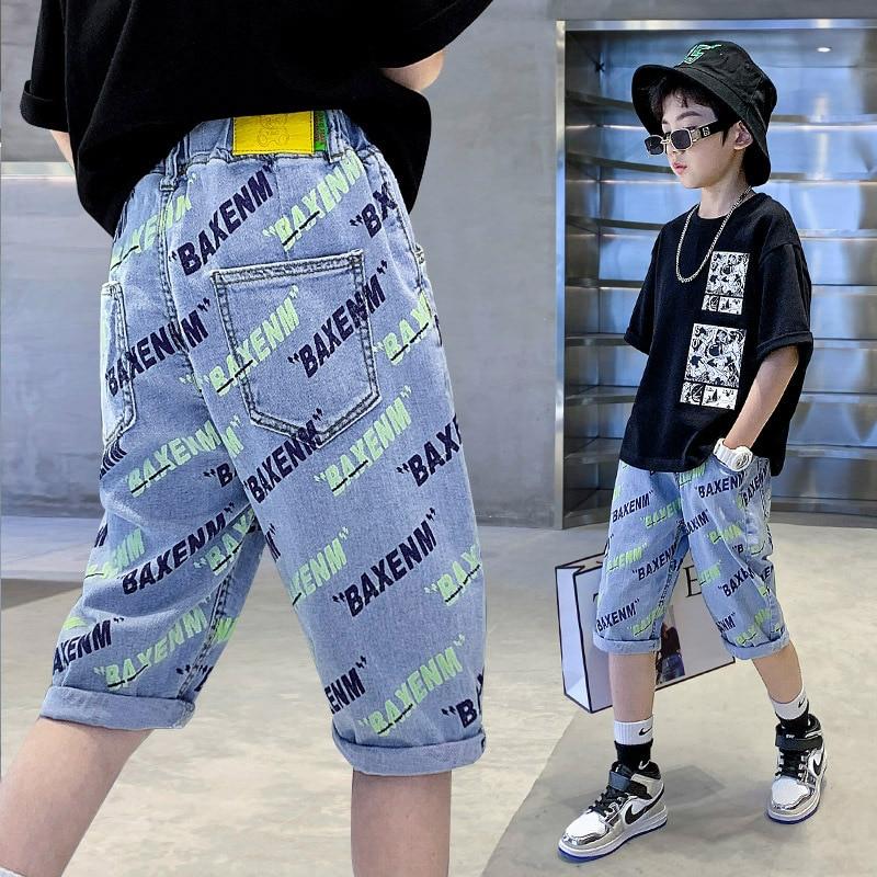 Boys' Letter-Print Elasticity Shorts