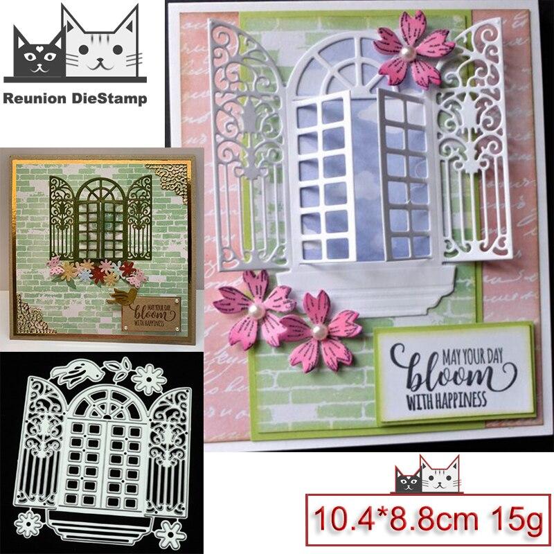Reunion New Design Craft Metal Die Cuts Cutting Die Flower Switch Window Scrapbooking Album Paper Card Craft Embossing Die Cuts