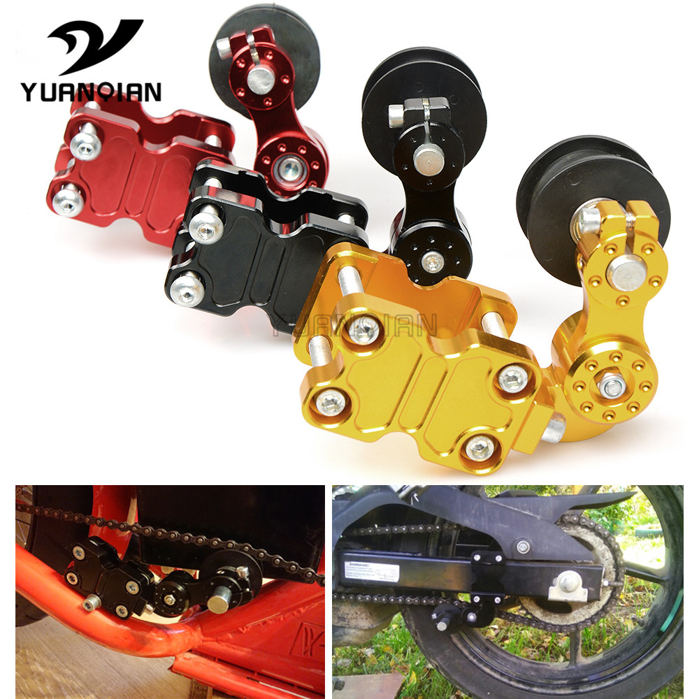 Universal Motorcycle Aluminum Adjuster Chain Tensioner Roller FOR YAMAHA R 1M YZF R3 TDR 250 SR400 YZF R125 TZR250 FZ16S XT250